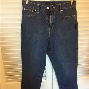 Calvin Klein high waisted, straight leg jean